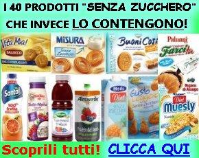 40 prodotti senza zucchero che inveche lo contengono