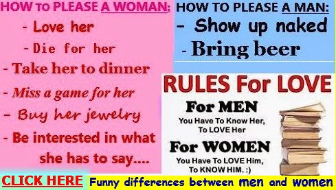 funny differences between men and woman